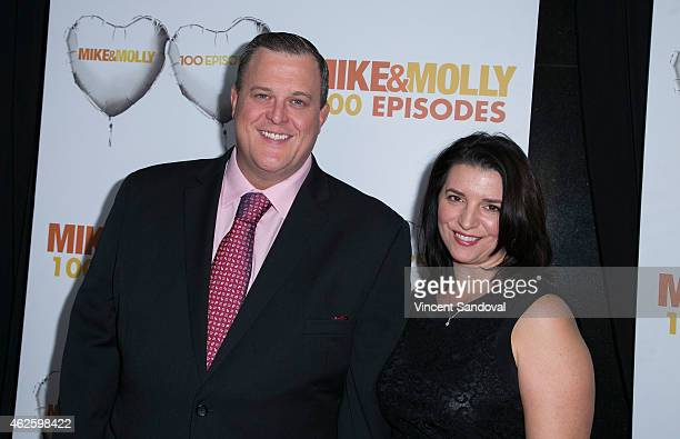 Actor Billy Gardell and wife Patty Gardell attend the Mike Molly 100 episodes celebration at Cicada on January 31 2015 in Los Angeles California