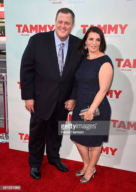 Actor Billy Gardell and wife Patty Gardell attend the premiere of Warner Bros Pictures' Tammy at TCL Chinese Theatre on June 30 2014 in Hollywood...