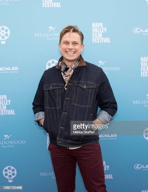 Actor Billy Magnussen arrives at Rising Star Showcase at Materra | Cunat Family Vineyards on November 10 2018 in Napa California