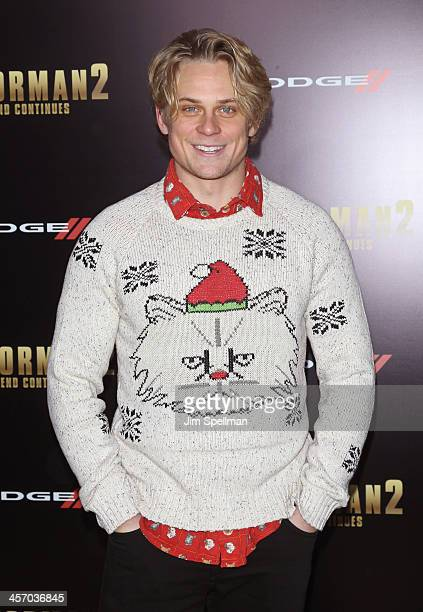 Actor Billy Magnussen attends the 'Anchorman 2 The Legend Continues' US premiere at Beacon Theatre on December 15 2013 in New York City