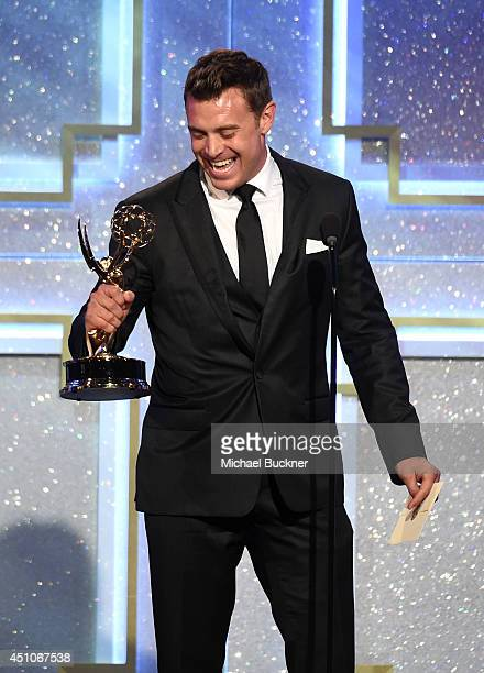Actor Billy Miller accepts Outstanding Lead Actor in a Drama Series for 'The Young and the Restless' onstage during The 41st Annual Daytime Emmy...