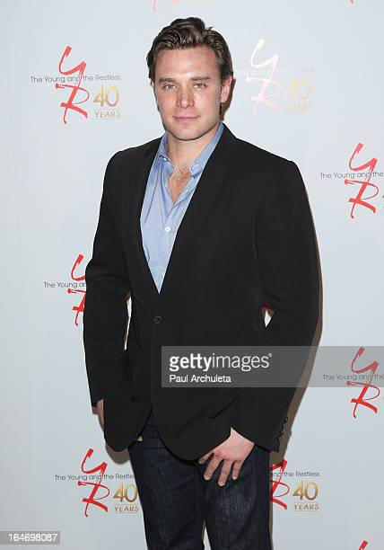 """Actor Billy Miller attends """"The Young & The Restless"""" 40th anniversary cake cutting ceremony at CBS Television City on March 26, 2013 in Los Angeles,..."""