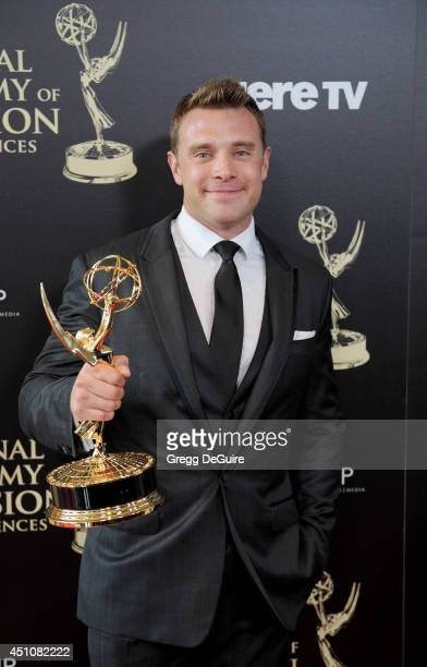 Actor Billy Miller poses in the press room at the 41st Annual Daytime Emmy Awards at The Beverly Hilton Hotel on June 22, 2014 in Beverly Hills,...