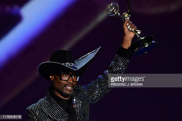 "Actor Billy Porter accepts the award for lead Outstanding Lead Actor In A Drama Series for ""Pose"" onstage during the 71st Emmy Awards at the..."