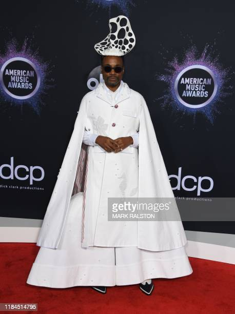 US actor Billy Porter arrives for the 2019 American Music Awards at the Microsoft theatre on November 24 2019 in Los Angeles