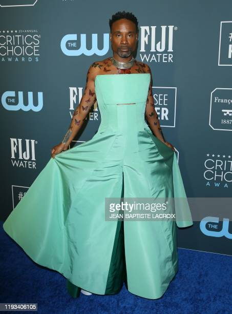 Actor Billy Porter arrives for the 25th Annual Critics' Choice Awards at Barker Hangar Santa Monica airport on January 12, 2020 in Santa Monica,...