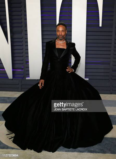 US actor Billy Porter attends the 2019 Vanity Fair Oscar Party following the 91st Academy Awards at The Wallis Annenberg Center for the Performing...