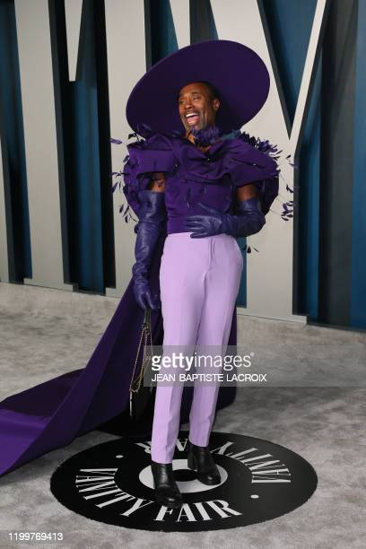 Actor Billy Porter attends the 2020 Vanity Fair Oscar Party following the 92nd Oscars at The Wallis Annenberg Center for the Performing Arts in...