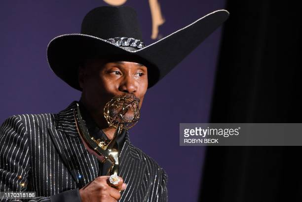 TOPSHOT US actor Billy Porter poses with the Emmy for Outstanding Lead Actor in a Drama Series award for Pose during the 71st Emmy Awards at the...