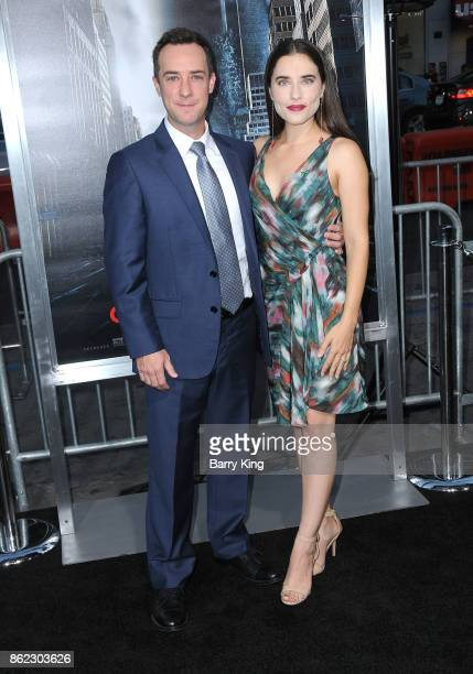 Actor Billy Slaughter and actress Alix Angelis attend the premiere of Warner Bros Pictures' 'Geostorm' at TCL Chinese Theatre on October 16 2017 in...