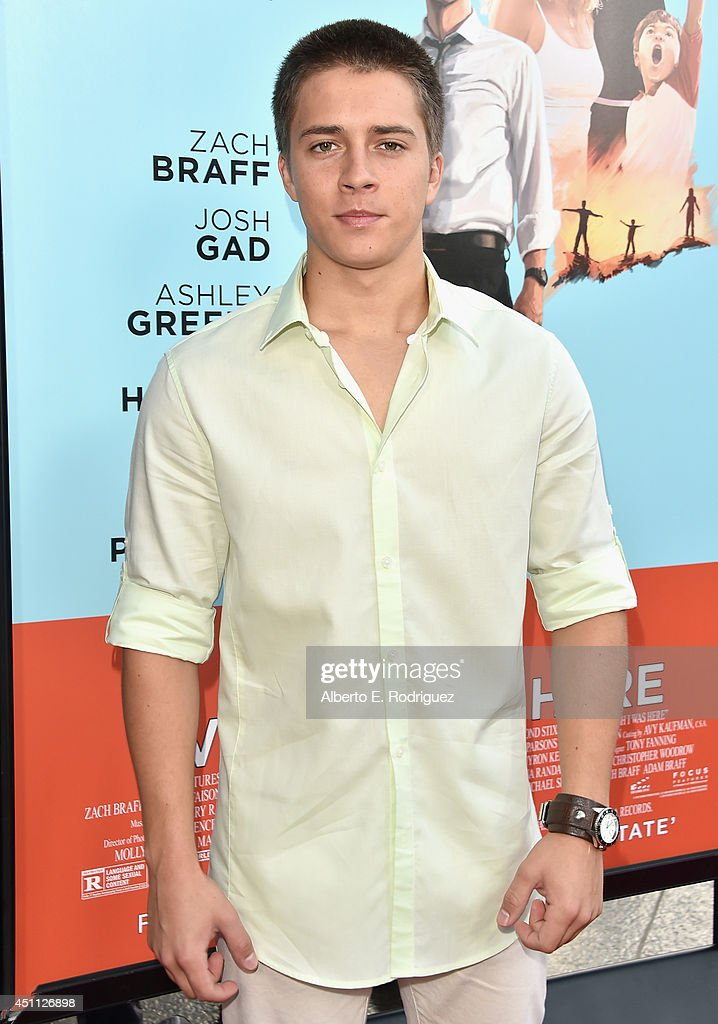 Actor Billy Unger attends the premiere of Focus Features' 'Wish I Was Here' at DGA Theater on June 23, 2014 in Los Angeles, California.