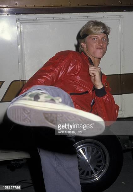 Actor Billy Zabka sighted on location filming 'The Karate Kid' on November 8 1985 in Los Angeles California