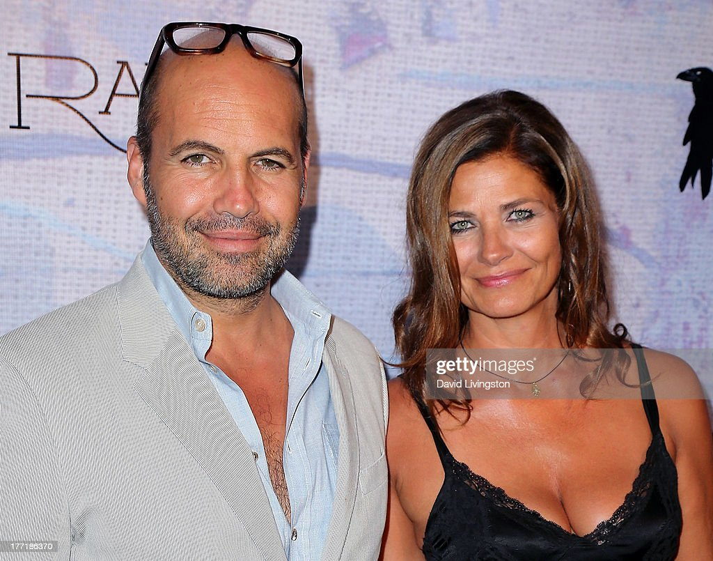 Actor Billy Zane (L) and architect Gulla Jonsdottir attend the opening night of Billy Zane's 'Seize The Day Bed' solo art exhibition at G+ Gulla Jonsdottir Design on August 21, 2013 in Los Angeles, California.