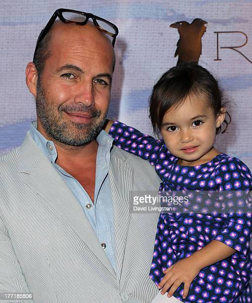 Actor Billy Zane and daughter Ava Katherine Zane attend the opening night of Billy Zane's Seize The Day Bed solo art exhibition at G Gulla Jonsdottir...