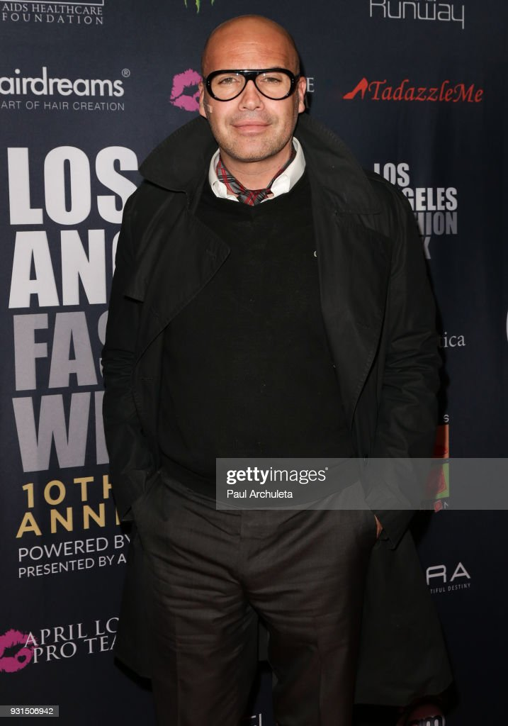 Actor Billy Zane attends the Domingo Zapata Fashion Show at the Los Angeles Fashion Week 10th season anniversary at The MacArthur on March 12, 2018 in Los Angeles, California.