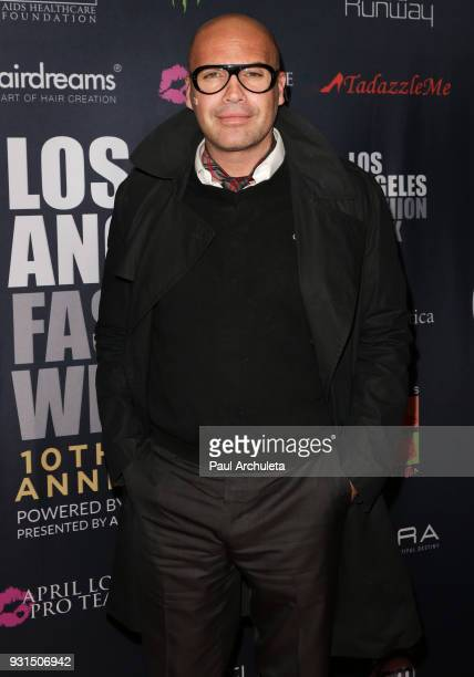 Actor Billy Zane attends the Domingo Zapata Fashion Show at the Los Angeles Fashion Week 10th season anniversary at The MacArthur on March 12 2018 in...