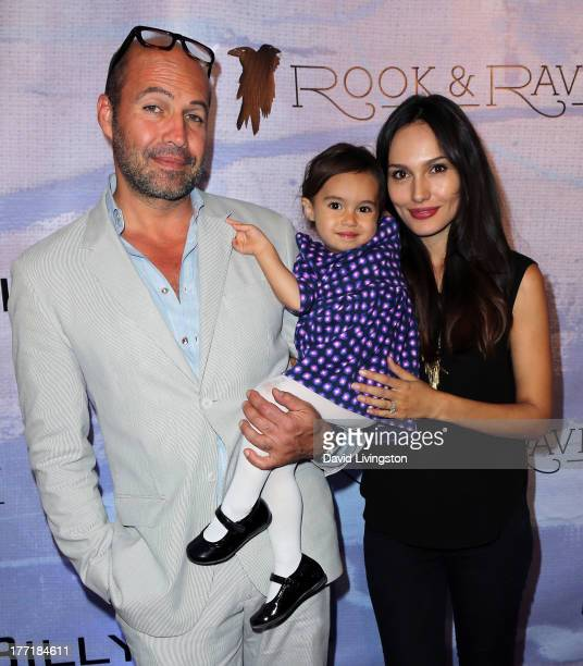Actor Billy Zane daughter Ava Katherine and model Candice Neil attend the opening night of Billy Zane's Seize The Day Bed solo art exhibition at G...