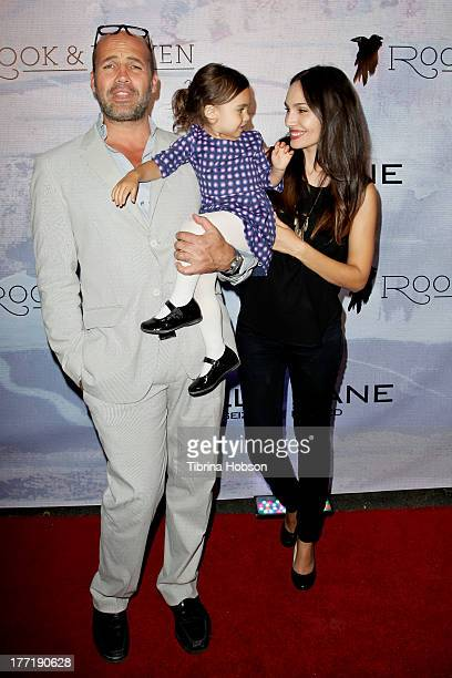 Actor Billy Zane his daughter Eva Zane and model Candice Neil attend the artist's reception for Billy Zane's solo art exhibition 'Seize The Day Bed'...