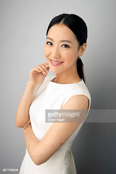Actor Bing Bai poses in the portrait studio at the BFI London Film Festival 2014 on October 13 2014 in London England