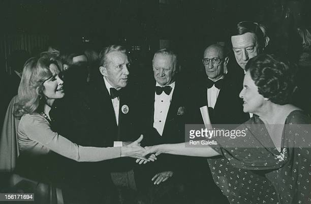 Actor Bing Crosby wife Kathryn Crosby and Mary Lasker attending 'Benefit Party for Fordham Prep' on December 6 1976 at New York State Theater at...
