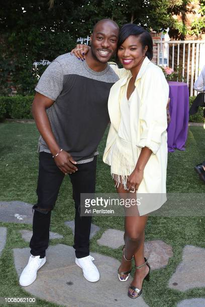 Actor BJ Britt and Actress Gabrielle Union attend Hallmark's When You Care Enough to Put It Into Words Launch Eventon July 30 2018 in Los Angeles...
