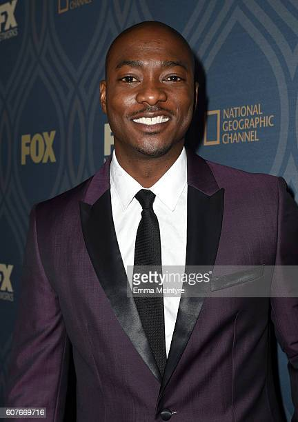 Actor BJ Britt attends the FOX Broadcasting Company FX National Geographic And Twentieth Century Fox Television's 68th Primetime Emmy Awards after...