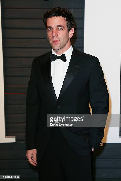 Actor BJ Novak arrives at the 2016 Vanity Fair Oscar Party Hosted by Graydon Carter at the Wallis Annenberg Center for the Performing Arts on...