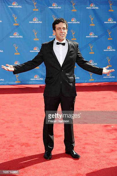 Actor BJ Novak arrives at the 62nd Annual Primetime Emmy Awards held at the Nokia Theatre LA Live on August 29 2010 in Los Angeles California