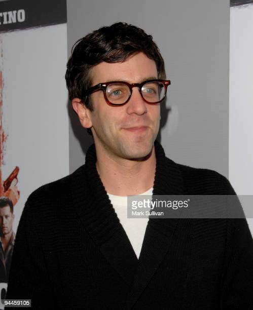 Actor BJ Novak arrives at the 'Inglourious Basterds' BluRay and DVD launch held at New Beverly Cinema on December 14 2009 in Los Angeles California