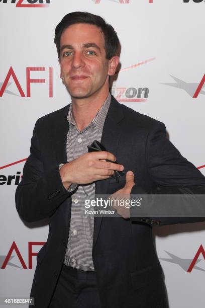 Actor BJ Novak attends the 14th annual AFI Awards Luncheon at the Four Seasons Hotel Beverly Hills on January 10 2014 in Beverly Hills California