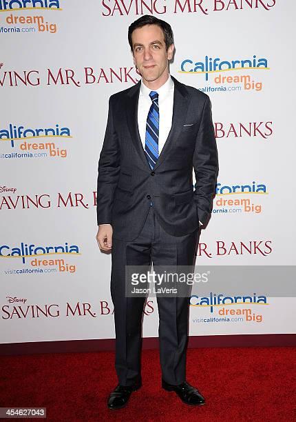 Actor BJ Novak attends the premiere of Saving Mr Banks at Walt Disney Studios on December 9 2013 in Burbank California