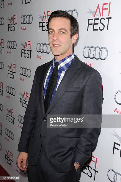 """Actor B.J. Novak attends the premiere of Walt Disney Pictures' """"Saving Mr. Banks"""" during AFI FEST 2013 presented by Audi at TCL Chinese Theatre on..."""