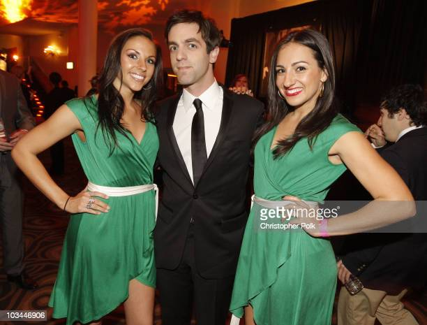 Actor BJ Novak with Heineken girls with Heineken at the 15th annual Critic's Choice Awards after party held at Katsuya on January 15 2010 in...