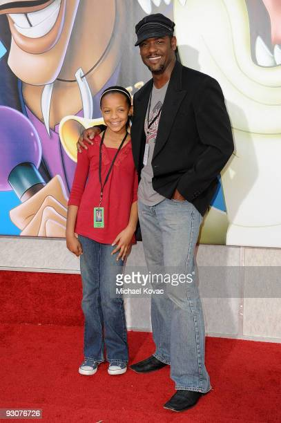 Actor Blair Underwood and daughter Brielle attend the premiere of ''The Princess And The Frog'' at Walt Disney Studios on November 15 2009 in Burbank...