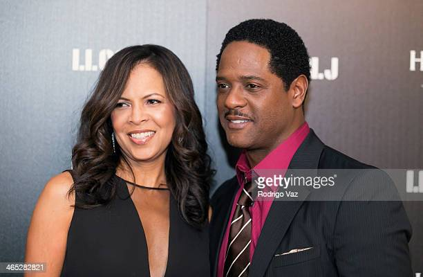 Actor Blair Underwood and Desiree DaCosta attend as LL COOL J hosts a PreGrammy Awards Dinner at The Bazaar at the SLS Hotel Beverly Hills on January...