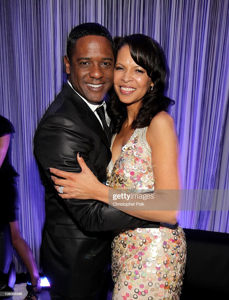 Actor Blair Underwood (L) and Desiree DaCosta attend NBCUniversal/Focus Features Golden Globes Viewing and After Party sponsored by Chrysler held at The Beverly Hilton hotel on January 16, 2011 in Beverly Hills, California.