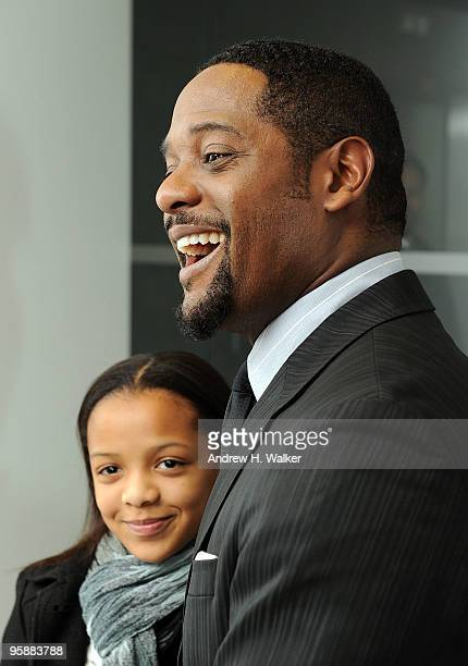Actor Blair Underwood and his daughter Brielle attend the opening of the new Joseph Abboud state of the art brand studio at Joseph Abboud Studio on...