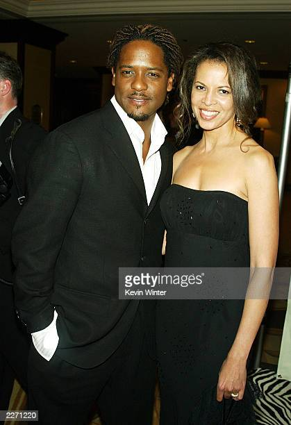 Actor Blair Underwood and his wife Desiree arrive at the 10th Annual Race to Erase MS at the Century Plaza Hotel on May 9 2003 in Los Angeles...