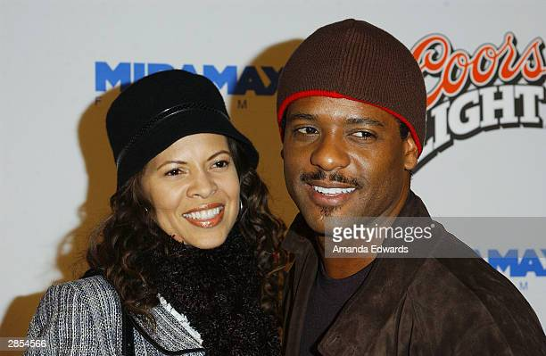 Actor Blair Underwood and his wife Desiree arrive at the Los Angeles premiere of My Baby's Daddy on January 8 2004 at the Egyptian Theatre in...