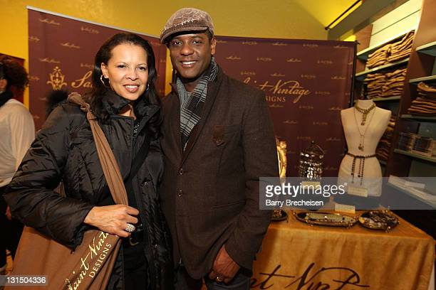 Actor Blair Underwood and his wife Desiree attends the Kari Feinstein Style Lounge on January 22 2011 in Park City Utah