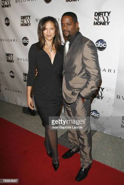 Actor Blair Underwood and wife attend the Dirty Sexy Money Premiere held at the Paramount Theater on September 23 2007 in Hollywood California