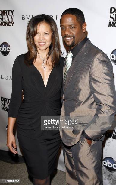 Actor Blair Underwood and wife attends the Ditry Sexy Money Premiere held at the Paramount Theater on September 23 2007 in Hollywood California