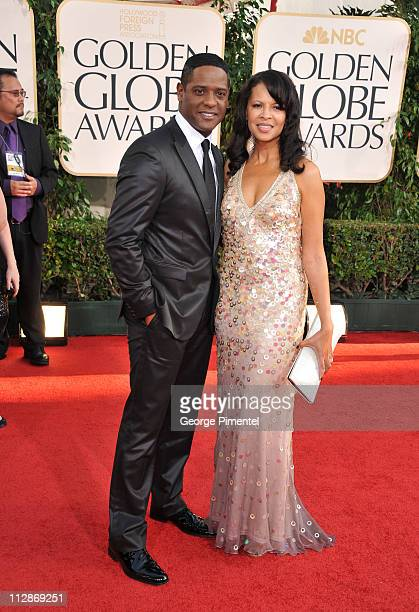 Actor Blair Underwood and wife Desiree DaCosta arrive at the 68th Annual Golden Globe Awards held at The Beverly Hilton hotel on January 16 2011 in...