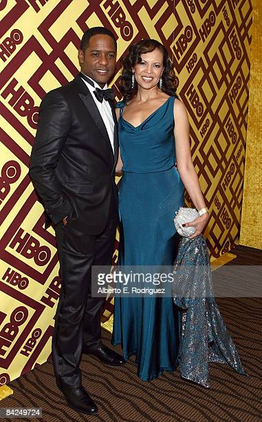 Actor Blair Underwood and wife Desiree DaCosta arrive at the official HBO after party for the 66th Annual Golden Globe Awards held at Circa 55...