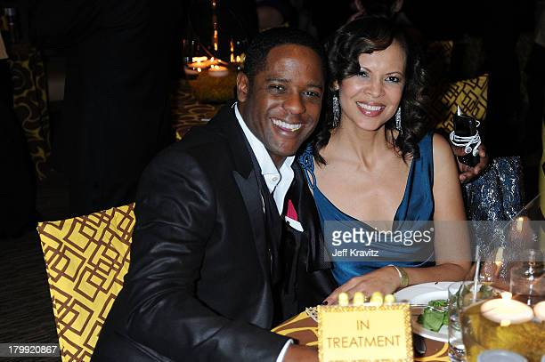 Actor Blair Underwood and wife Desiree DaCosta attend the official HBO after party for the 66th Annual Golden Globe Awards held at Circa 55...