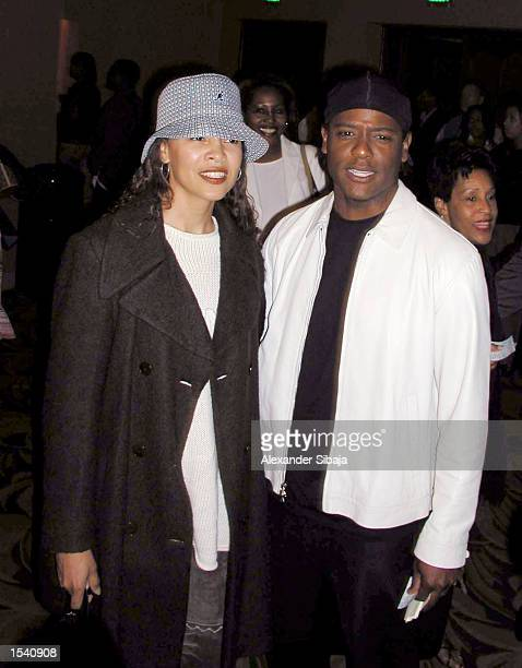 Actor Blair Underwood poses with his wife Desiree during the musical premiere of Love Makes Things Happen at The Wiltern Theater May 7 2002 in Los...