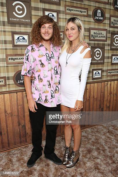 Actor Blake Anderson and Rachael Finley arrive at the Comedy Central Roast of Roseanne Barr at Hollywood Palladium on August 4 2012 in Hollywood...