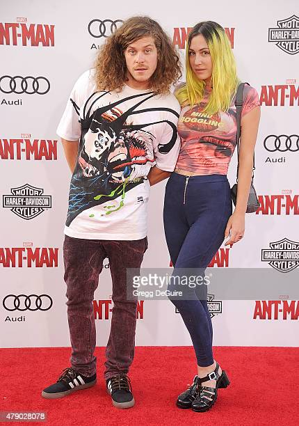 Actor Blake Anderson and Rachael Finley arrive at the premiere of Marvel Studios AntMan at Dolby Theatre on June 29 2015 in Hollywood California