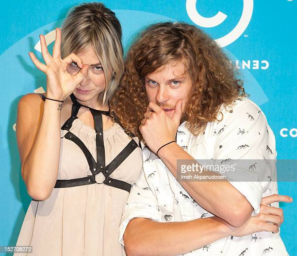 Actor Blake Anderson and Rachael Finley attend the 2012 Primetime Emmy Awards Comedy Central Party at Cecconi's Restaurant on September 23 2012 in...