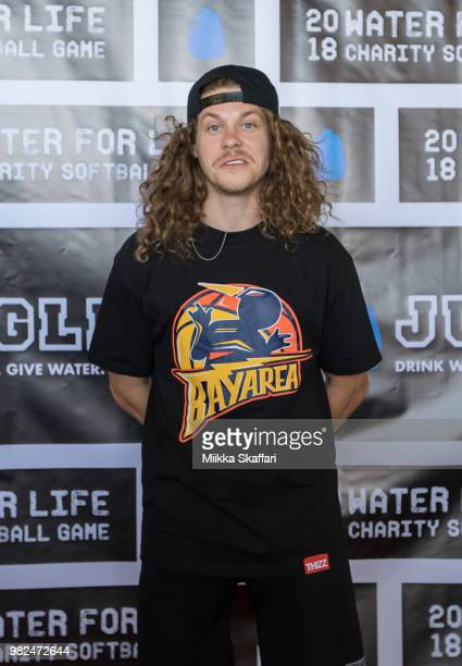 Actor Blake Anderson arrives at Water For Life Charity Softball Game at OaklandAlameda County Coliseum on June 23 2018 in Oakland California